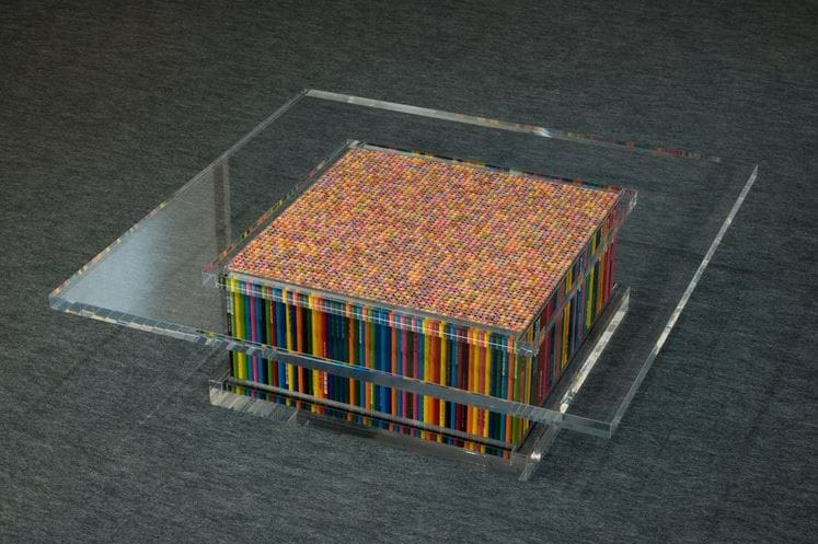 Table of Pencils is the work of sculptor Motohiro Tomii and was created specifically to walk a thin line between conceptualism and utilitarianism.