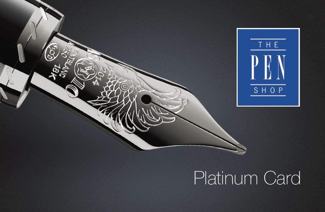 Platinum card once youve spent more than 1000 you will become a pen expert this gives you access to exclusive events and product launches youll also receive 10 off publicscrutiny Gallery